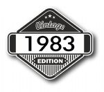 VIntage Edition 1983 Classic Retro Cafe Racer Design External Vinyl Car Motorcyle Sticker 85x70mm